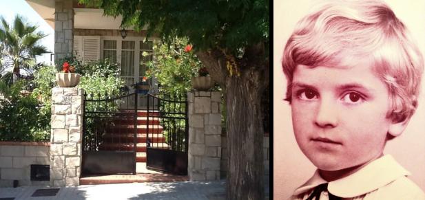 La casa donde crecí y yo en 1974