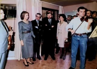 Z.Bron, la Reina Sofía y Paloma O'Shea
